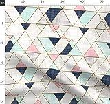 Dreiecke, Marineblau, Mint, Rosa Stoffe - Individuell