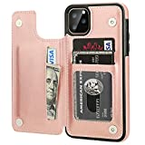 iPhone 11 Pro Max Wallet Case with Card Holder,OT ONETOP PU...