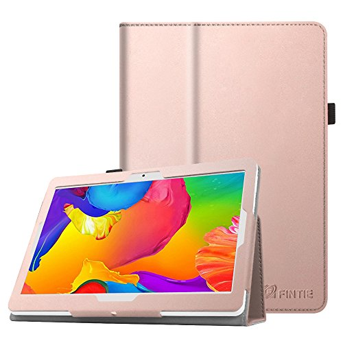 "FINTIE Coque Étui pour YOTOPT 10.1 - Folio Housse de Protection Case Cover pour Tablette Dragon Touch K10/Max10, BEISTA 10.1"",SUMTAB 10"", TOSCIDO X104, Victbing 10"", YUNTAB K17/K107, Or Rose"