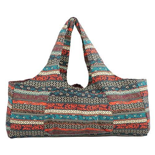 Transpirable de gran tamaño estilo étnico Yoga paquete equipaje bolsa fitness ropa viaje 511g/18oz
