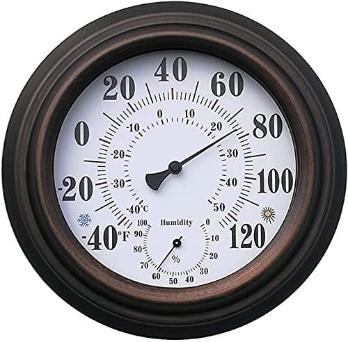 SDFOOWESD Wood Thermo-Hygrometer Sauna Termómetro Higrómetro Termómetro Sauna Higrómetro/termómetro...