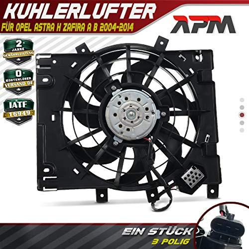 Kühlerlüfter Ventilator Motorkühlung für Astra H L48 L35 L08 L67 L69 L70 Zafira B A05 1.3L 1.6L 1.7L 1.9L 2.0L 2004-2015 13126384