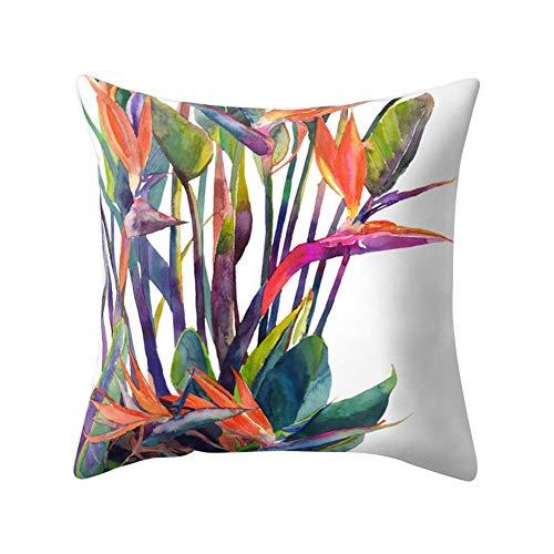 Ogquaton - Funda de cojín con Estampado de Hojas Tropicales Multicolor para sofá Cama y Cama, Muy práctica y Popular