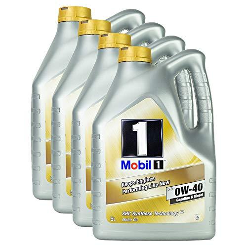 4x Motoröl Mobil 1 Fs 0w-40 5l Shc Synthese Technologie Diesel Benzin Hochleistung Langlebig Motoroil Oil One Protection Formula Shc Kaltstart Motorenöl Motorschutz Lange Lebensdauer
