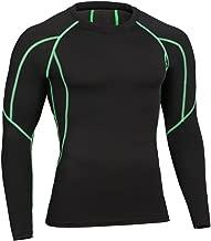 Herren Kompressionsshirt Langarm Atmungsaktives Fitness Unterhemd Funktionswäsche Base Layer Sport T-Shirt
