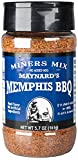 Miners Mix Maynards Memphis Championship BBQ DRY Rub – Big Bold Flavor For Low N Slow Smoking Spare Ribs, Baby Backs, Butts, Pulled Pork, Brisket and Beef - No MSG, Low Salt (5.7 Ounce - Pack of 1)
