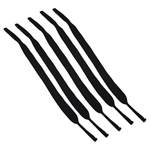 VGEBY Brillenband Neopren Sportband Anti-Rutsch-Brille Kopfbandband, 5 Stück Neopren-Gummiband Halteband Eyewear Strap Brillenbänder für Sport Klettern Laufen Outdoor-Aktivitäten