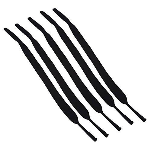 GLOGLOW 5 stuks glazen strap, duurzame sportbrillen elastische schouderbandhouder kabel ketting nekkoord voor mannen en vrouwen meerweg verpakking