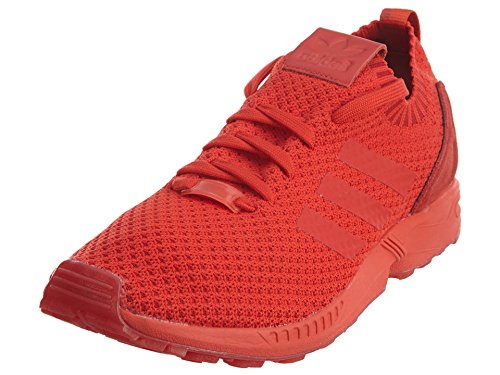 adidas Mens ZX Flux Primeknit Running Shoes Red/Red/Red 9.5 D(M) US