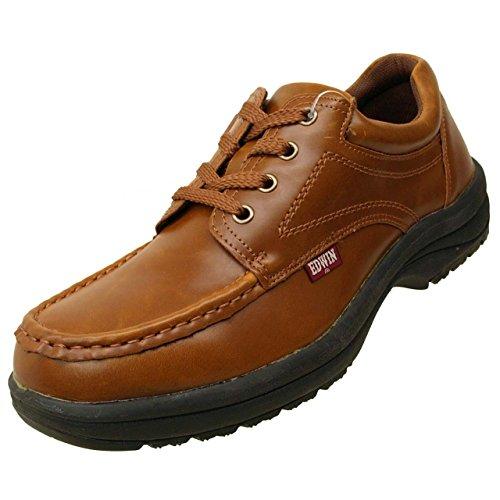 防水設計 EDWIN エドウィン ED7323 メンズスニーカー シューズ 靴 ビジネスシューズ ED-7323 キャメル25.0cm