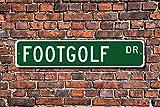 unknow Footgolf, Footgolf segno, Footgolf fan, Footgolf regalo, Footgolf, golf giocatore, golf con pallone da calcio, cartello stradale personalizzato, segno di metallo di qualità