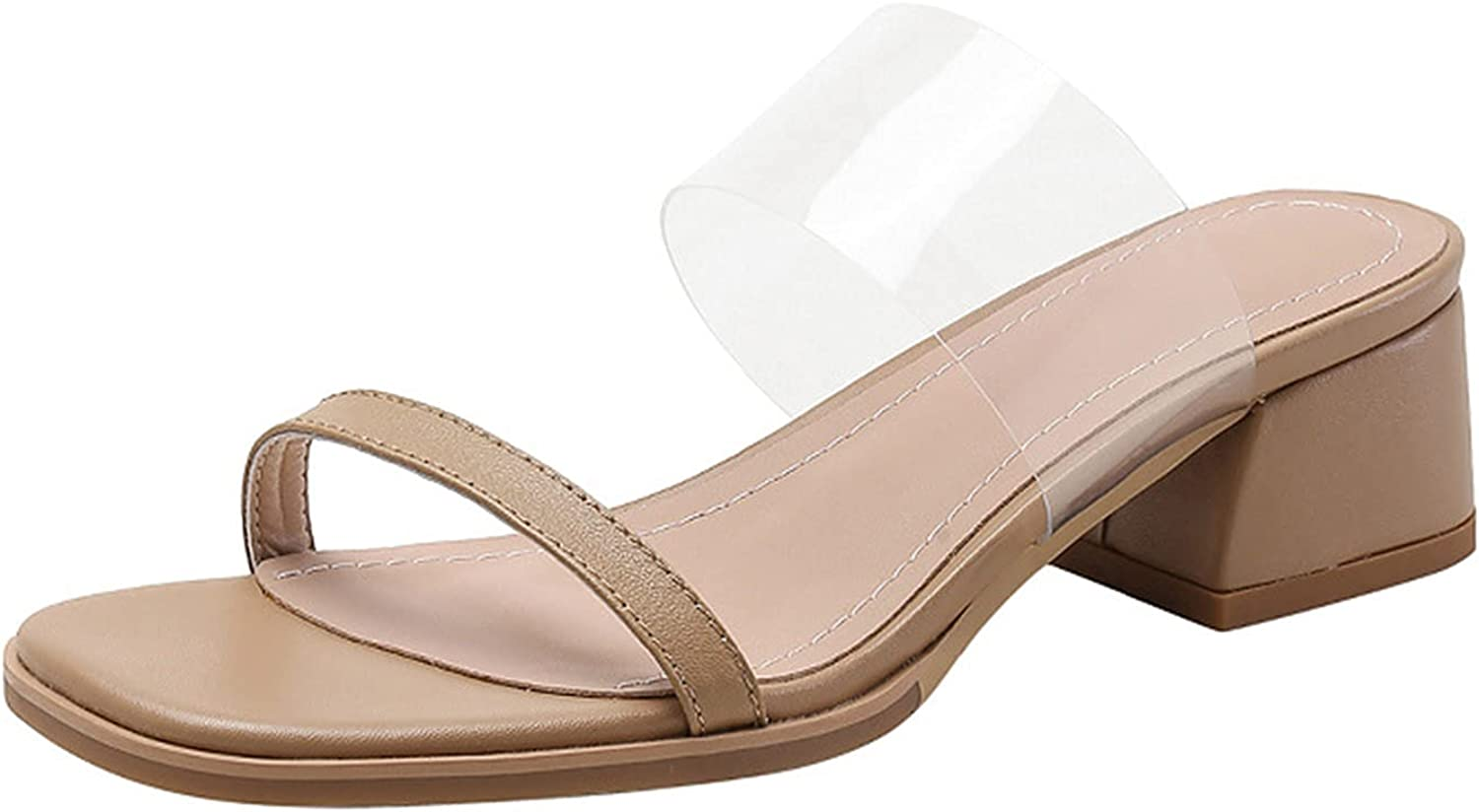 Heels for Women Finally popular brand Sandals Our shop most popular with Block Toe Chunky Slip Open On Heel