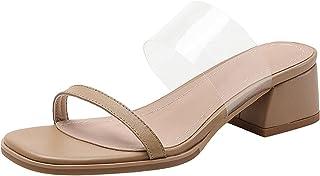 Geilisungren Damen Hausschuhe rutschfeste Damen Sandalen mit dicken Absätzen und hohen Absätzen Plateau Hausschuhe Badelat...