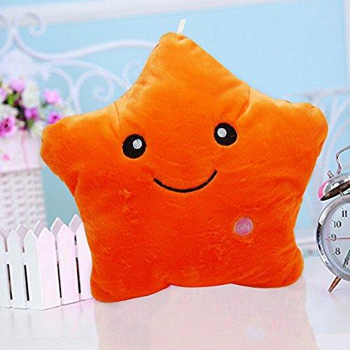 Crazy lin Dream Leuchtendes Kissen, bunt, mit LED, kuschelig, weich, zur Entspannung, Geschenkidee blau (Orange)