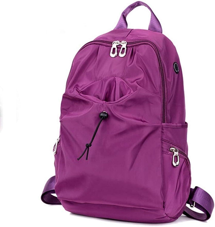 Laptop Backpack, Outdoor Travel Waterproof Knapsack, Outdoor Climbing Large Capacity Bag, Men's and Women's Rucksack College High School Daypacks (color   Purple, Size   29cm14cm44cm)