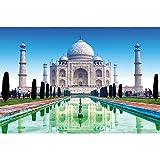 GREAT ART® XXL Póster – Taj Mahal – Monumentos de arte de pared que debes ver Deco Mármol Monumento Tumba India Jardín Mural India Motivo Foto Y Decoración (140 x 100 cm)