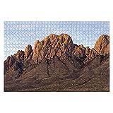 1000 piezas Organ Mountains Desert Peaks National Monument New Mexico Rompecabezas de gran pieza para adultos Juguete educativo para niños Juegos creativos Entretenimiento Rompecabezas de madera Decor