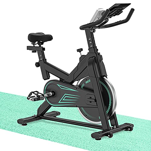 Indoor Cycling Bike Stationary - Exercise Bike for Home Cardio Workout with Comfortable Seat Cushion...