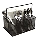 Mind Reader Storage Basket Organizer, Utensil Holder, Forks, Spoons, Knives, Napkins, Perf...