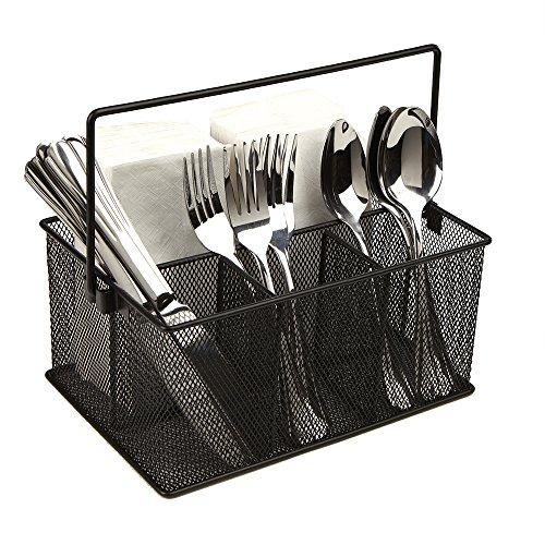 Mind Reader Organizador de almacenamiento para utensilios de cocina, tenedores, cucharas, cuchillos,…