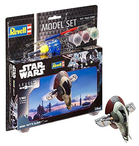 Revell Modellbausatz Star Wars Boba Fett's Slave I im Maßstab 1:160, Level 3, originalgetreue Nachbildung mit vielen Details, Model Set mit Basiszubehör, einfaches Kleben und Bemalen, 63610