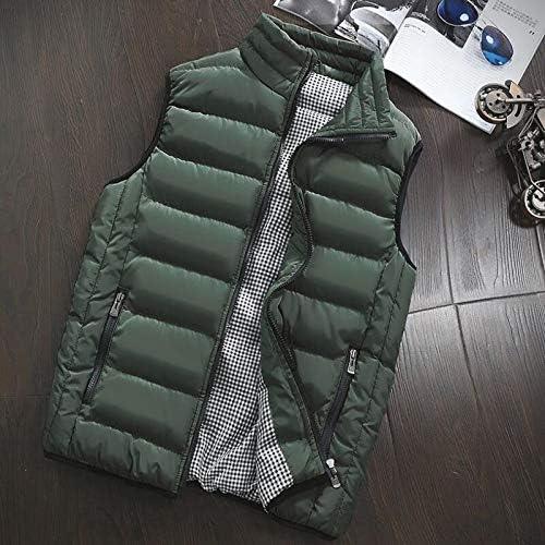 LYLY Vest Women Autumn Winter Vest Men Casual Outwear Warm Sleeveless Jackets Male Fashion Waistcoat 5XL Vests Gilet Vest Warm (Color : Green, Size : M)