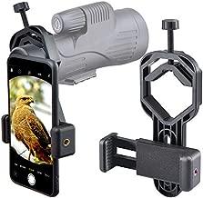 Starboosa Smartphone Telescope Adapter Camera Mount, Universal Phone Mount, Work with Telescope Spotting Scope Microscope Monocular Binocular - Fits iPhone, Samsung, HTC, LG and Smartphone