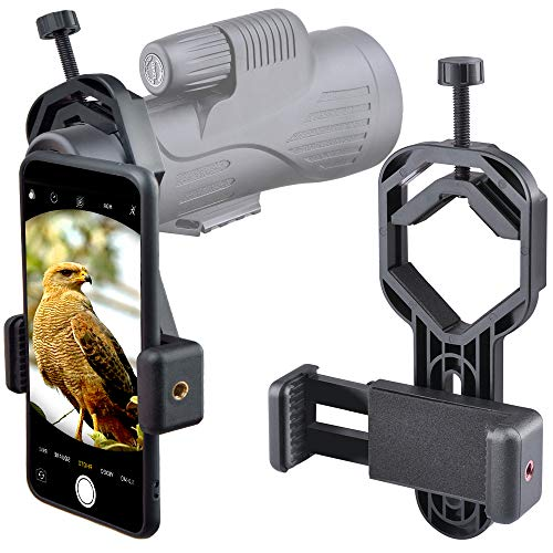 Starboosa Smartphone Telescope Adapter Camera Mount, Universal Phone Mount, Work with Telescope Spotting Scope Microscope Monocular Binocular - Fits iPhone, Samsung, HTC, LG and Smartphone