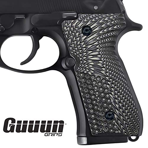 Guuun Beretta 92/96 Full Size G10 Grips,Beretta 92 fs, m9, 92a1, 96a1, 92 INOX Grips, Perfect in fit and Slim Down The Beretta Grips, Eagle Wings Texture, Brand