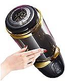 JFRIA Masseur poussée puissants entièrement automatiques, Rechargeables par USB Automatique Télescopique pour Hommes Chauffant avec Fonction d'Aspiration comme (Sex y)