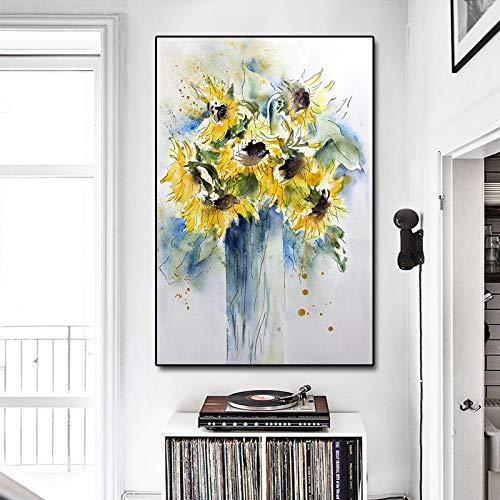 NFXOC Impresión en Lienzo Arte de la Pared Impresión Giclee Arte Moderno Flor Hermosa para la Sala de Estar Imágenes Decoración de la Pared Pintura (70x120cm Sin Marco
