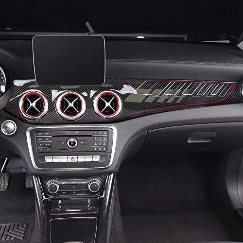 SHES para gla / cla250 w117 / gla x156 / 220 / gla amg / cla45 Calcomanías para automóviles estilo fibra de carbono Accesorios del panel de control interior modificado (línea roja)