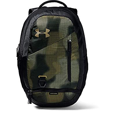 Under Armour Adult Hustle 4.0 Backpack , Range Khaki (237)/Outpost Green , One Size