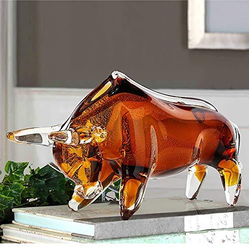 YYYUE Glaze Bull Lucky Bull Lucky Decoraciones De La Gabinete De La Suerte, La Decoración De La Sala De Escritorio del Toro De La Calle Hecha A Mano, Las Artesanías De La Sala De Oficina