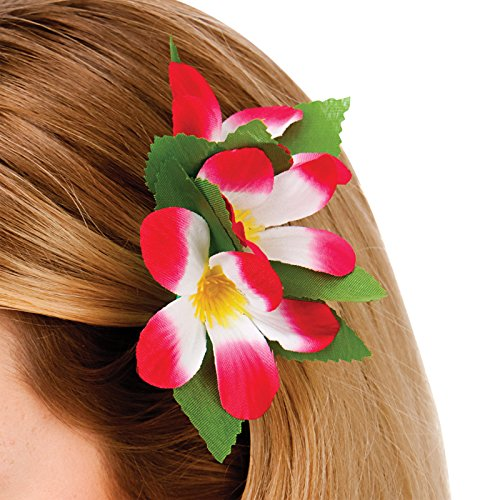 Hawaii Flower Hair Clip - Hot Pink