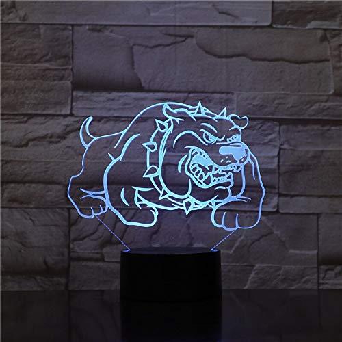 Iluminación sorpresa antes de Navidad Visión USB 3D LED lámpara de mesa en forma de pug luz de noche luz de noche productos para bebés luz de noche