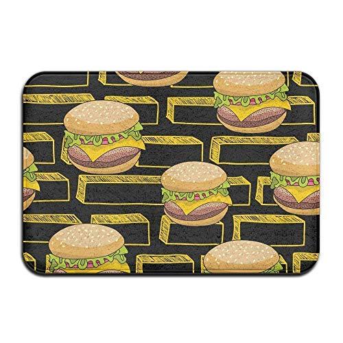 dingjiakemao deurmatten antislip buitendeurmatten - binnendeken - zachte badmat (Burger Geometric Design) 60 x 40 cm