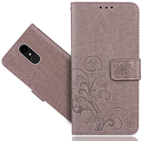 LG K4 2017 Handy Tasche, FoneExpert® Blume Wallet Hülle Flip Cover Hüllen Etui Hülle Ledertasche Lederhülle Schutzhülle Für LG K4 2017