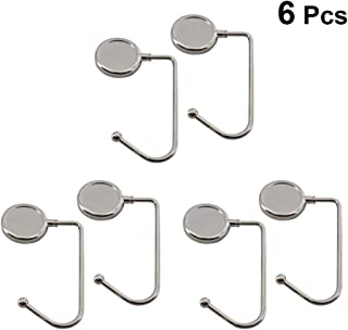 TOPBATHY 6pcs Purse Hook Hanger Long Handbag Hook Portable Bag Table Desk Bar Holder Storage For Women Girl Gift