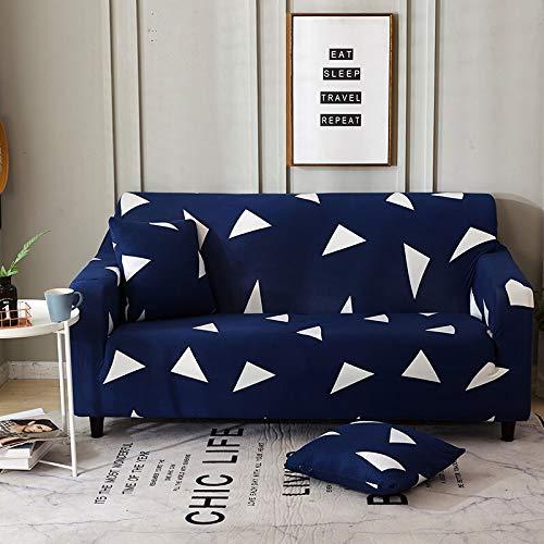 Funda de sofá elástica geométrica Funda de sofá elástica con Todo Incluido para sofá de Diferentes Formas Funda de sofá Estilo L A12 2 plazas
