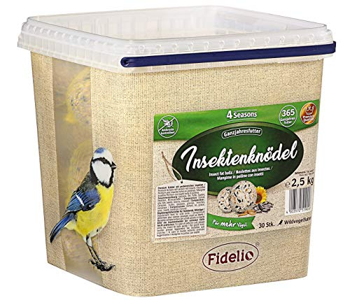 Fidelio Wildvogelfutter, Insektenknödel, mit Netz, 30 Stück (2.5 kg)