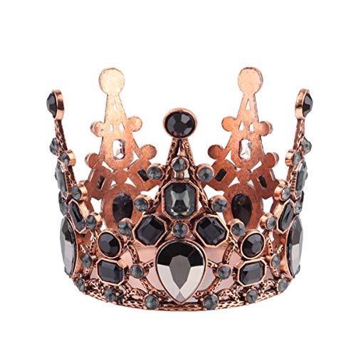 Amosfun Kroon Taart Topper Vintage Kroon Bruiloft Taart Decoratie Tiara Prinses Kroon Verjaardag Partij Taart Decor Haar Ornamenten