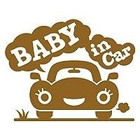 imoninn BABY in car ステッカー 【パッケージ版】 No.25 クルマさん (ゴールドメタリック)