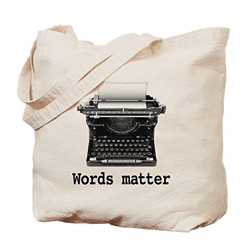 CafePress Words Matter Natural Canvas Tote Bag, Reusable Shopping Bag