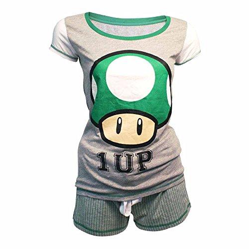 Nintendo Shortama (Damen) -S- Mushroom 1 Up