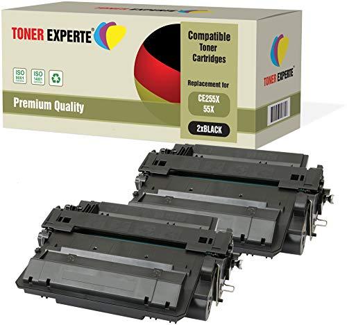 2er-Pack TONER EXPERTE® Premium Toner kompatibel zu CE255X CRG 724H für HP Laserjet P3010 P3015 P3015D P3015DN P3015X Enterprise 500 MFP M525DN M525F Canon i-SENSYS LBP6750dn