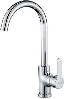 Lonheo Wasserhahn Küche 360° Schwenkbereich Wasserhahn Spültischarmatur mischbatterie küche Heiß und kalt einstellbar, aus Messing Verchromt
