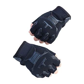 MagiDeal Children Half Finger Fingerless Short Gloves Mitt Mitten for Cycling MTB Exercise Skate Skateboard Roller Skating