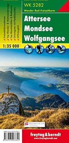 WK 5282 Attersee - Mondsee - Wolfgangsee, Wanderkarte 1:35.000 (freytag & berndt Wander-Rad-Freizeitkarten)