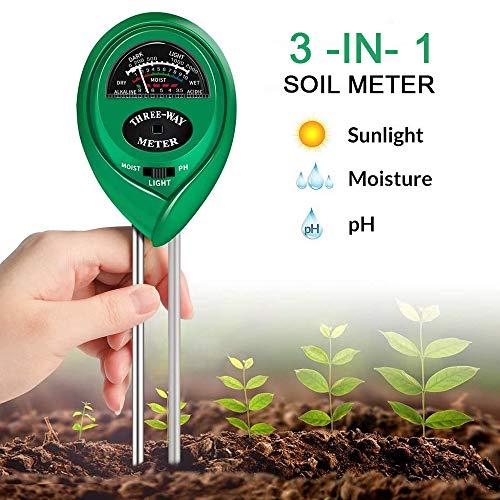 Bodem Test Kit PH vochtmeter Plant water licht Tester Kits voor Garden Farm Lawn Indoor Outdoor bevorderen Plants gezonde groei, geen batterij nodig
